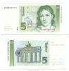 Банкнота 5 марок 1991, Германия