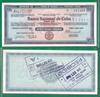 Дорожный чек 20 песо, Куба