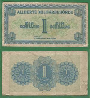 1 шиллинг 1944 Оккупация Австрии