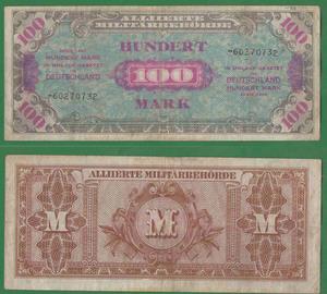 100 марок 1944 Советская оккупация