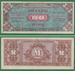 20 марок 1944 Англ. окк Германии