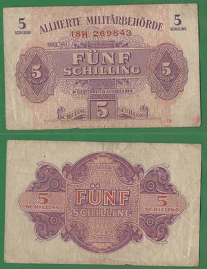 5 шиллингов 1944 , Австрия оккуп.