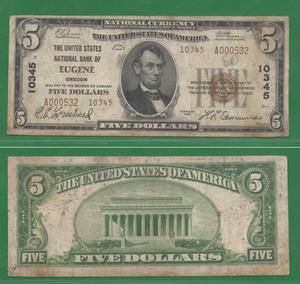Редкие 5 долларов 1929 США